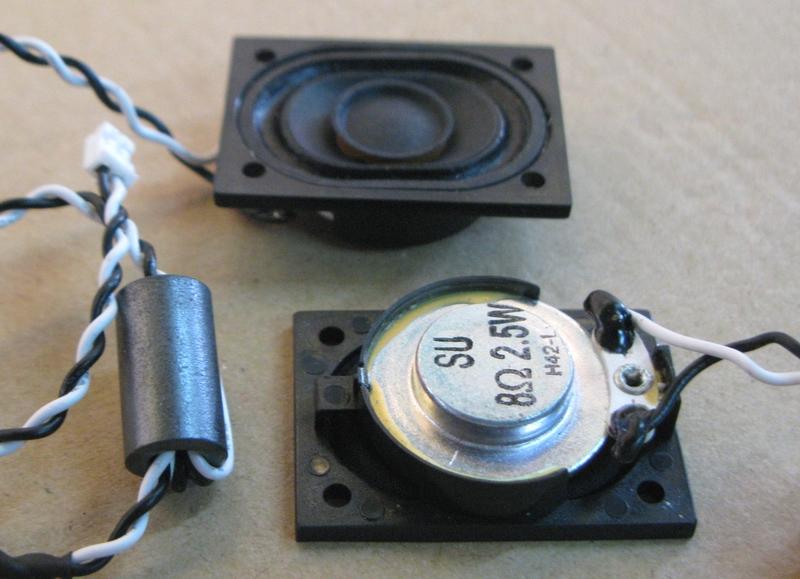 2pcs/pack 1.5-inch SU3042 computer monitor speaker magnetic computer louderspeaker for LCD TV speaker flat panel TV good Audio(China (Mainland))