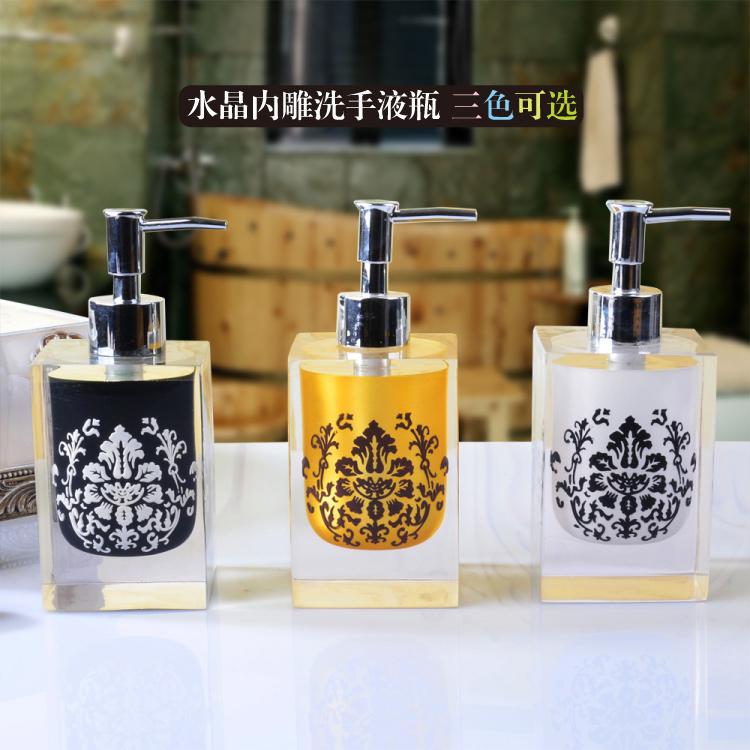 bottle of European high-end emulsion resin pressing the bottle of the hotel liquid soap shower gel shower gel bottle(China (Mainland))
