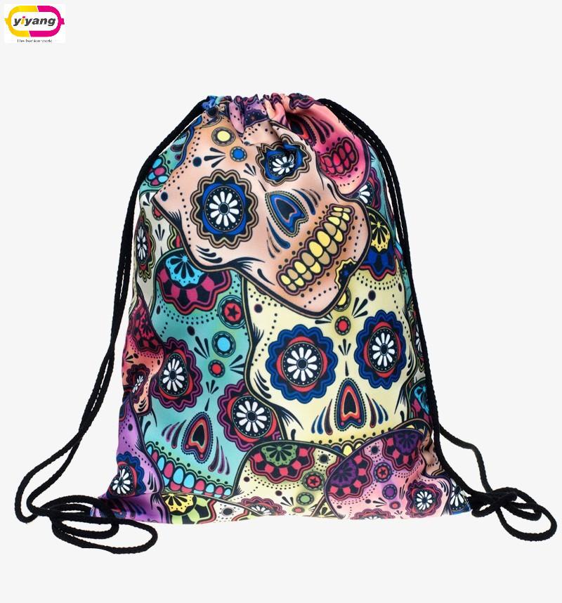 Гаджет  feminina harajuku drawstring bag backpacks new fashion escolar backpack 3D printing travel softback man women mochila  None Камера и Сумки
