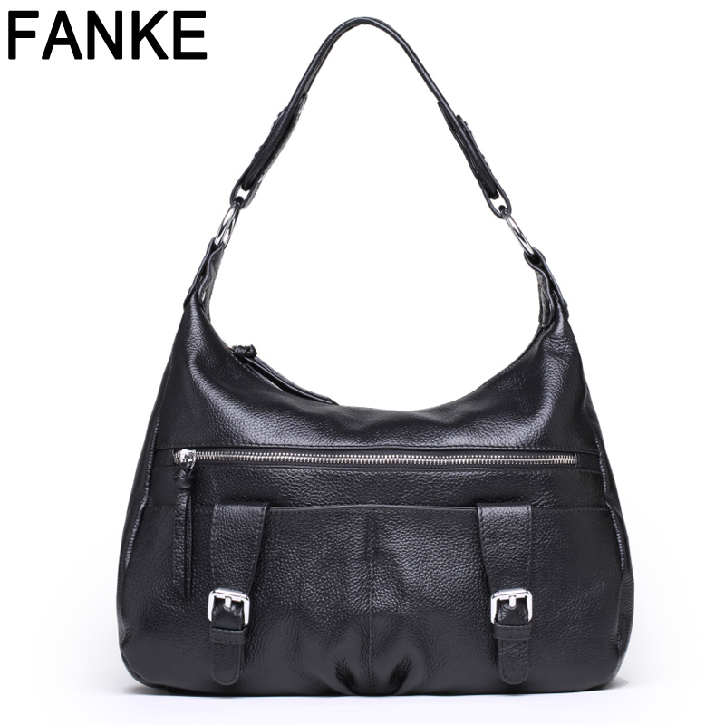Two Zipper Women Crossbody Bag Women's Genuine Leather Cowhide Shoulder Handbags 2016 New Arrival Fashion Tote Bags Famous Brand(China (Mainland))