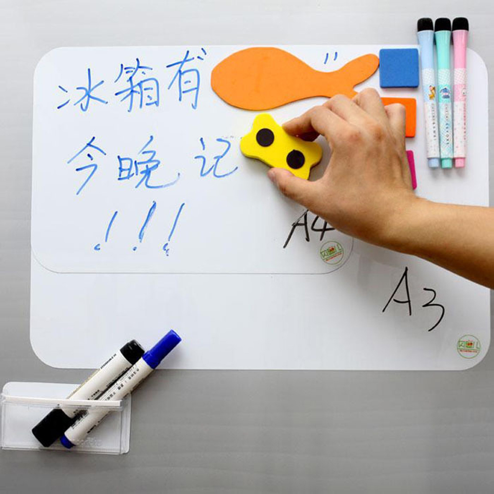"A3 297mm*420mm Magnetic Dry Erase White Board 17"" x 11"" For Fridge Refrigerator Message Board with free Pen & Eraser(China (Mainland))"
