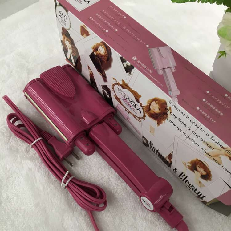 Three Tube Egg Roll Electric Ceramic Hair Curler Wave Curl Machine Styling Tools Not hot of wet and dry hair sticks<br><br>Aliexpress
