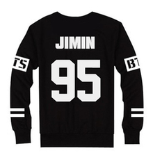 Hot Sale Unisex BTS T-Shirts Slim Number Letter Print Black t shirt Women Tops 2016 Long Sleeve Casual Tees Clothing ropa mujer(China (Mainland))