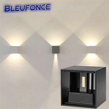 7W Led Outdoor Wall Lamp IP67 ASWAY Surface Mounted Indoor Cube Led Wall light,Aluminum White/Black Up and Down Wall Lamp wy01(China (Mainland))