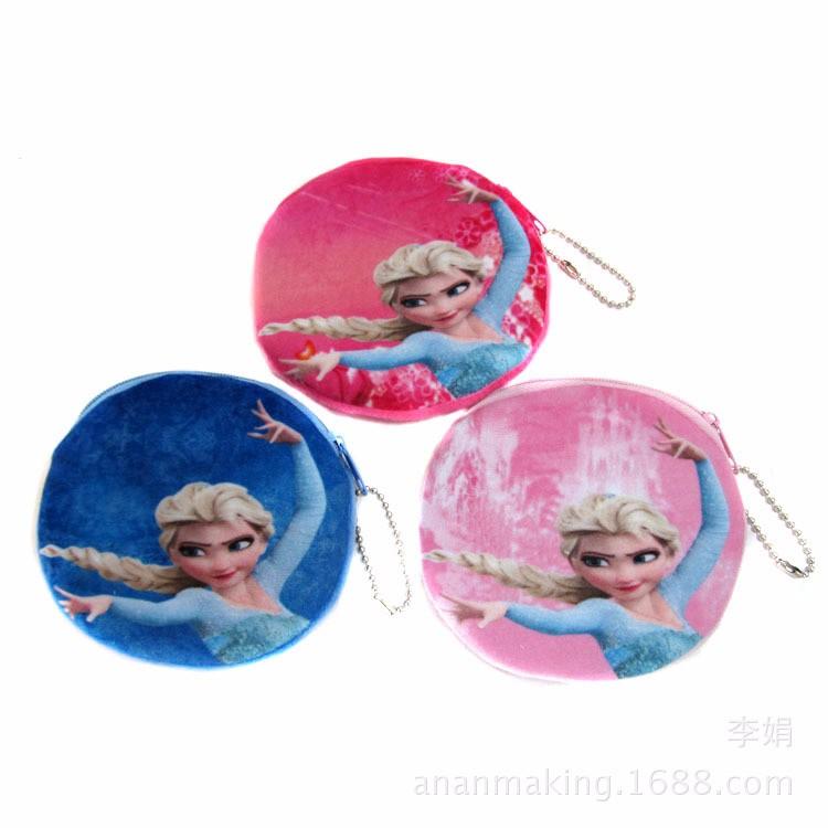 Женщин плюшевые сумки принцесса эльза анна девушки портмоне дети бумажник держателя карты / чехол день рождения рождественский подарок B27