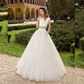 Lace Crop Top Two Piece Wedding Dresses Real Photo Sweet Sixteen Dresses