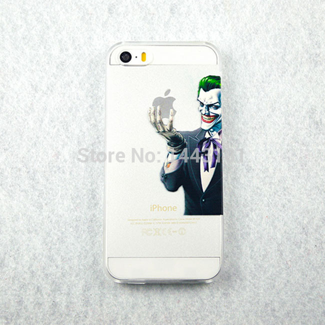 Transparent PC Case for iPhone5 5s Minions Popeye Mario Bros Characters Style Creative Design phone case 1022(China (Mainland))