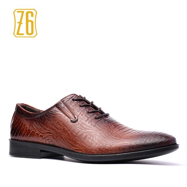Z6 мужчины кожаные ботинки большой размер красивый удобный бренд мужчины туфли # ...