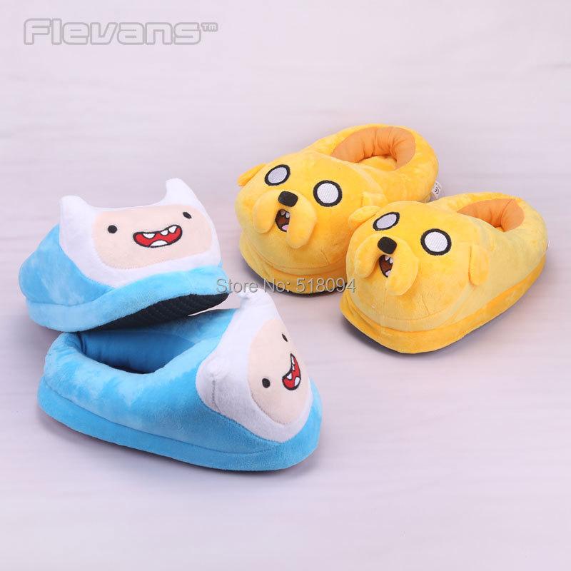 Anime Cartoon Adventure Time Finn Jake Plush Shoes Home House Winter Slippers for Children Women Men ANSE027(China (Mainland))