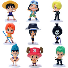 Buy One Piece Action Figure Luffy Tony Chopper Sanji Usopp Brook Anime Toys Dolls Model Collection Brinquedos 9 Pieces/Set PVC #NB1 for $25.15 in AliExpress store