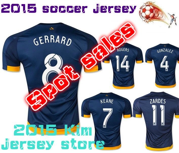 New 2016 JUNINHO soccer jersey 15 16 GERRARD KEANE ZARDES BECKHAM football Shirt(China (Mainland))