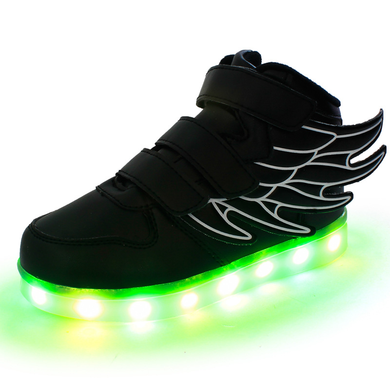 2016 NEW Children USB Charging Shoes Kids LED Luminous Shoes Boys Girls Colorful Flashing Lights Shoes Sport Casual Shoe<br><br>Aliexpress