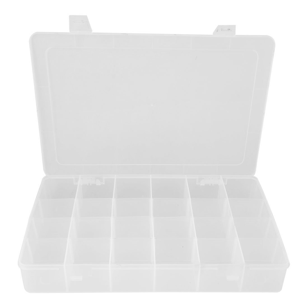 SZS Hot Como Clear White Plastic 24 Compartments Fishing Fish Lure Storage Box Case(China (Mainland))