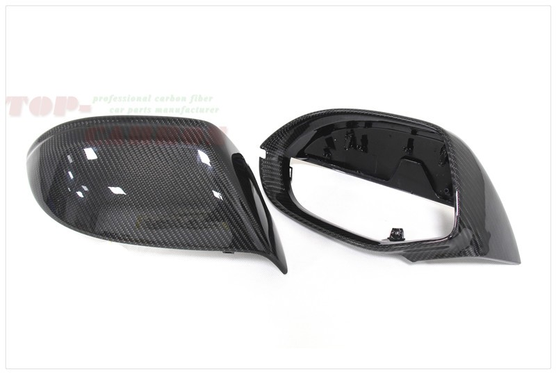 1:1 Replacemance for Audi A7 S7 RS7 Carbon Fiber Mirror Covers Rear View Without Lane Assit 2011 2012 2013 2014