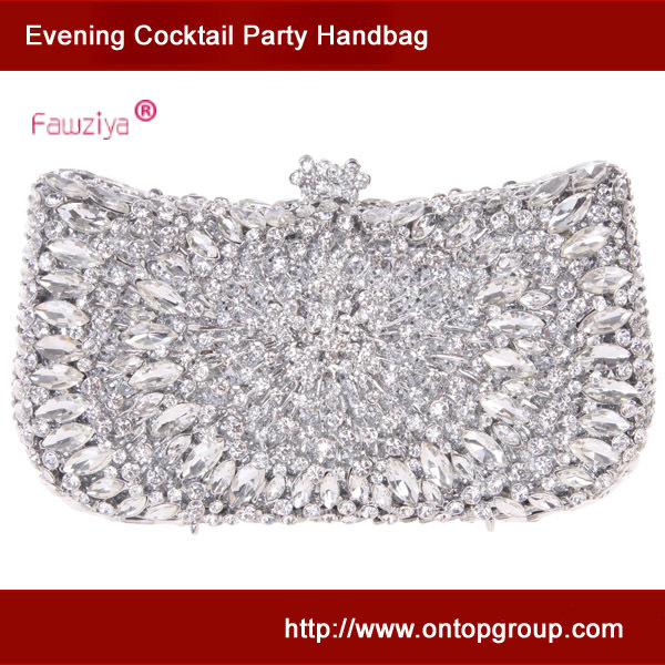 Здесь можно купить  Crystal boat shaped ladies wild party handbag wedding bridal clutch bag  Камера и Сумки