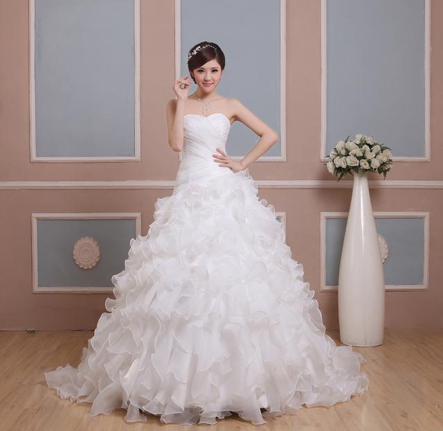 Новый Дизайн Дешевые Свадебные Платья свадебные платья novia Линии Милая С Crystal ...
