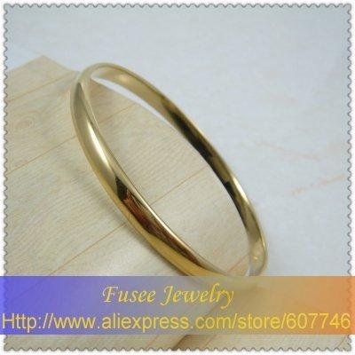 brass 18K gold plated bangle F1710074 .20 2pcs/lot