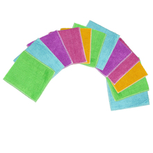 12 Pcs/ pack New Arrival Kitchen Cleaner wipping rags efficient Bamboo Fiber Cleaning Cloth home microfiber washing dish Cloth(China (Mainland))