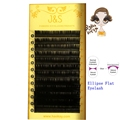 J S 4trays mix length Saving Time high quality Ellipse Flat False mink Eyelash Extension ellipse