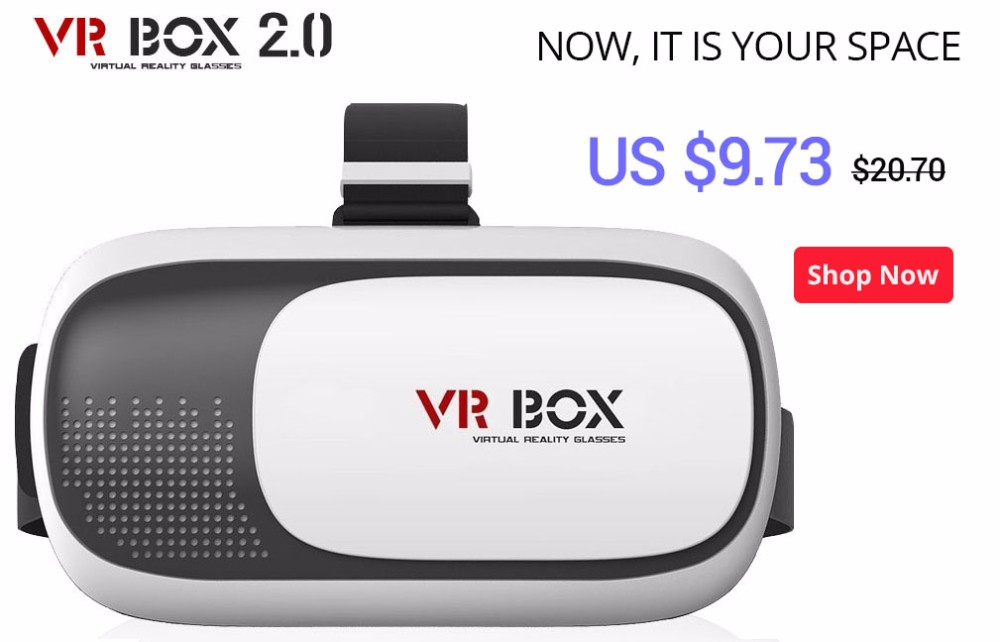 VR Box Shinecon Virtual Reality 3D Glasses VR Movie Game With Remote Control Resin Lens 4.0-6.0 Inch Smart Phone