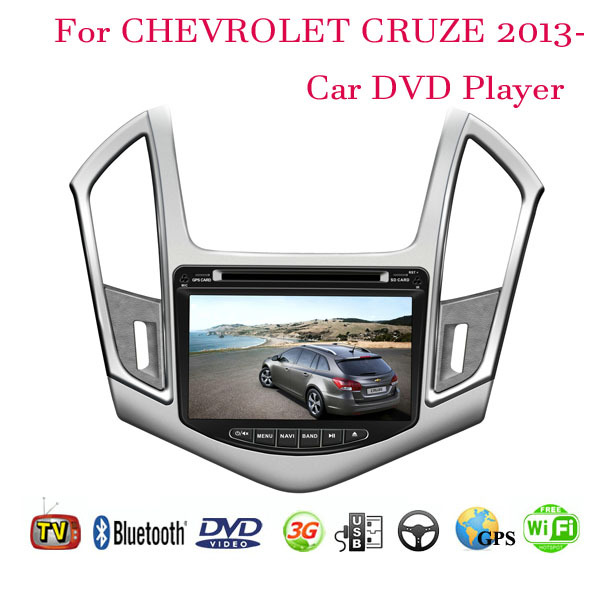 2 Din Car DVD Player Fit CHEVROLET CRUZE 2013 2014 GPS TV 3G Radio WiFi Bluetooth Wheel contol(China (Mainland))