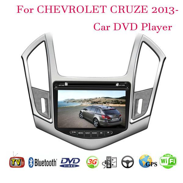 2 Din Car DVD Player Fit CHEVROLET CRUZE 2013 2014 GPS TV 3G Radio WiFi Bluetooth Wheel contol(China (Mainland))
