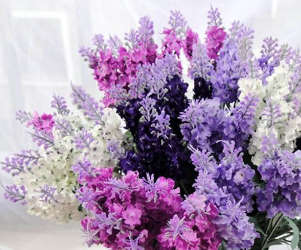 10 Provencal lavender bouquet 4-color simulation flowers, silk flowers, fake flowers(China (Mainland))