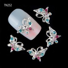 Buy 10pcs Glitter Butterfly Rhinestones 3d Nail Art Decorations, Alloy Nail Sticker Charms Jewelry Nail Gel/Polish Tools TN252 for $1.97 in AliExpress store