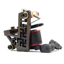 Black Diamond Steel Tattoo gun Machine Liner Shader 10 wrap Coils ink needle tip Free shipping(China (Mainland))