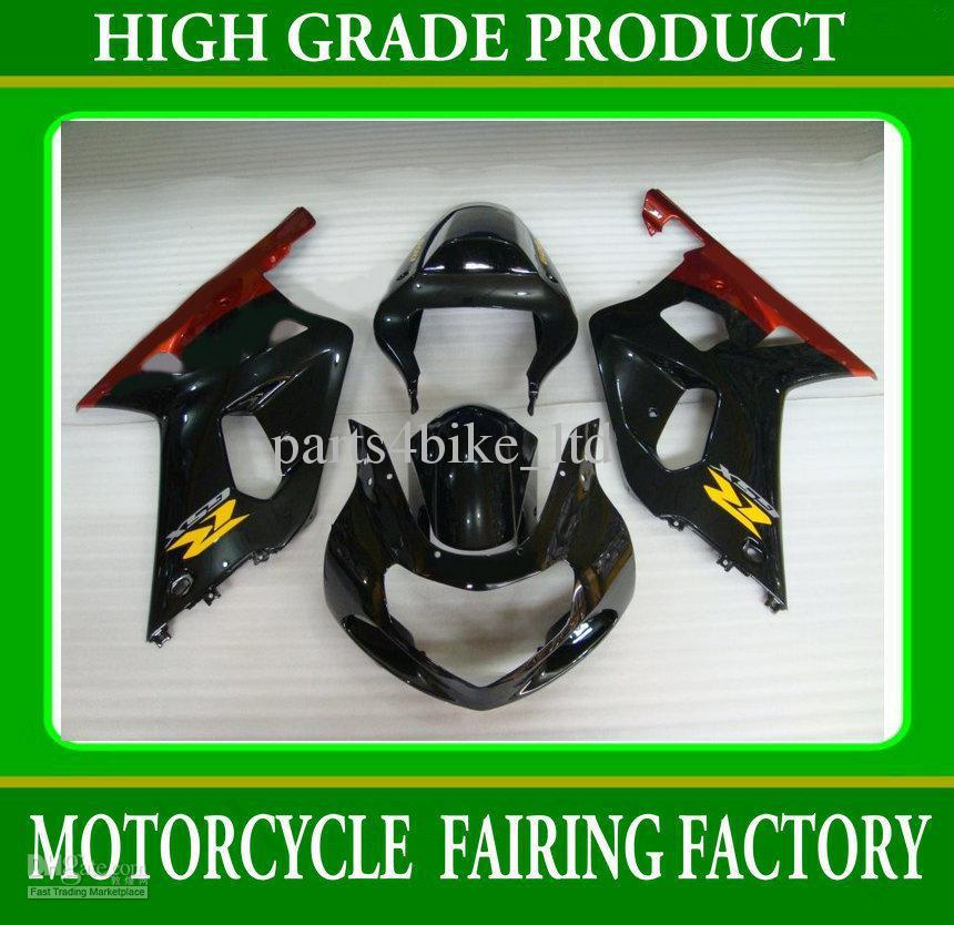 Red black motorcycle body fairings for suzuki GSXR 600 750 2001-2003 K1 GSXR600 GSXR750 01- 03 RX3z(China (Mainland))