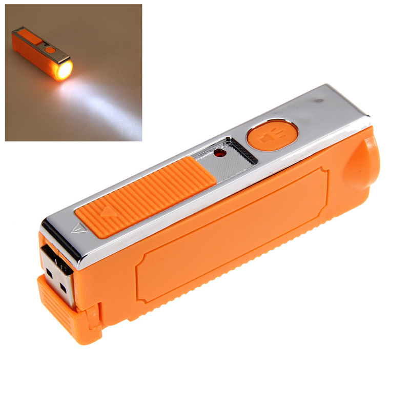 Fashion LED Flashlight USB Interface Charging Cigarette Lighter High Quality Free Shipping(China (Mainland))