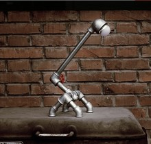 Loft Vintage Table Lamp In Industrial Style Water Pipe LED Table Lamps For Bedroom Desk Reading, Lamparas De Mesa (China (Mainland))