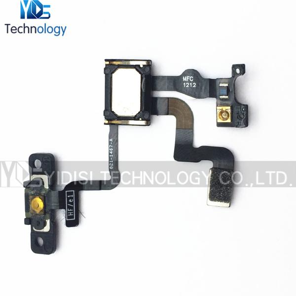 Wholesale 50pcs/lot Original Power Volume Button Proximity Light Senor Flex Cable +Earpiece Speaker For iPhone 4S Free Shipping