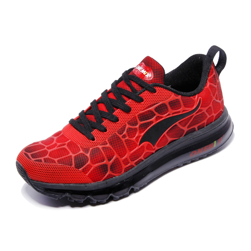HTB1ECuELpXXXXa3XpXXq6xXFXXX3 - New Men Running Shoes Nice Run Athletic Trainers Man Red Black Zapatillas Sports Shoe Max Cushion Outdoor Walking Sneakers