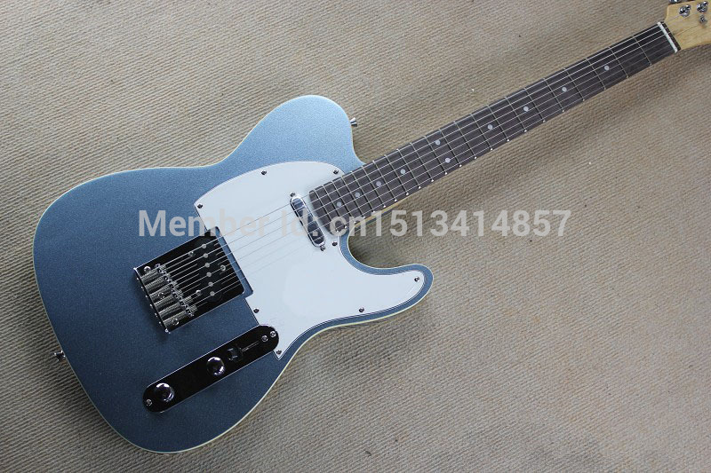 Free shipping Chinese Factory Custom Shop 2015 100% NEW Deluxe TL guitar metal gray color electric guitar 323(China (Mainland))