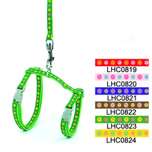 Candy Adjustable Cat Harness Leash Set SmallPet Nylon Chest Strap Rope Halter Kitty Collar and Lead(China (Mainland))