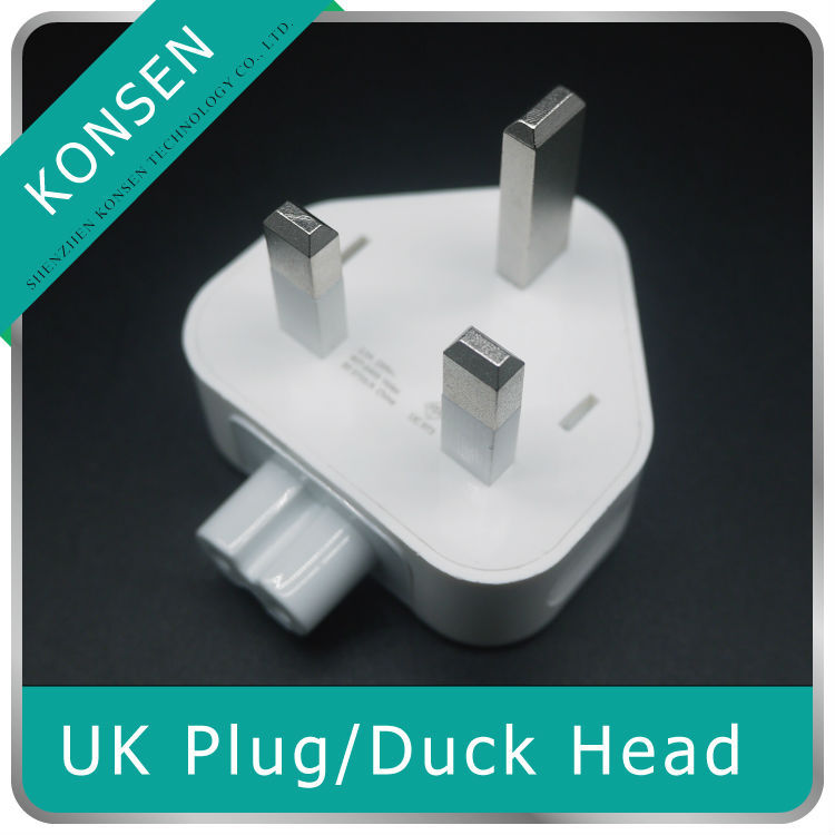 Wall AC Detachable Electrical UK Plug Duck Head for Apple iPad iPhone USB Charger MacBook Power Adapter Free Shipping(China (Mainland))