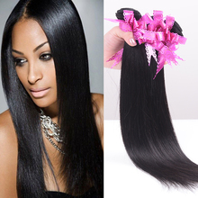 6A Unprocessed Virgin Malaysian Straight Hair Black Color #1B Straight Human Hair Bundles 3Bundles/150g Virgin Hair Whoelsale