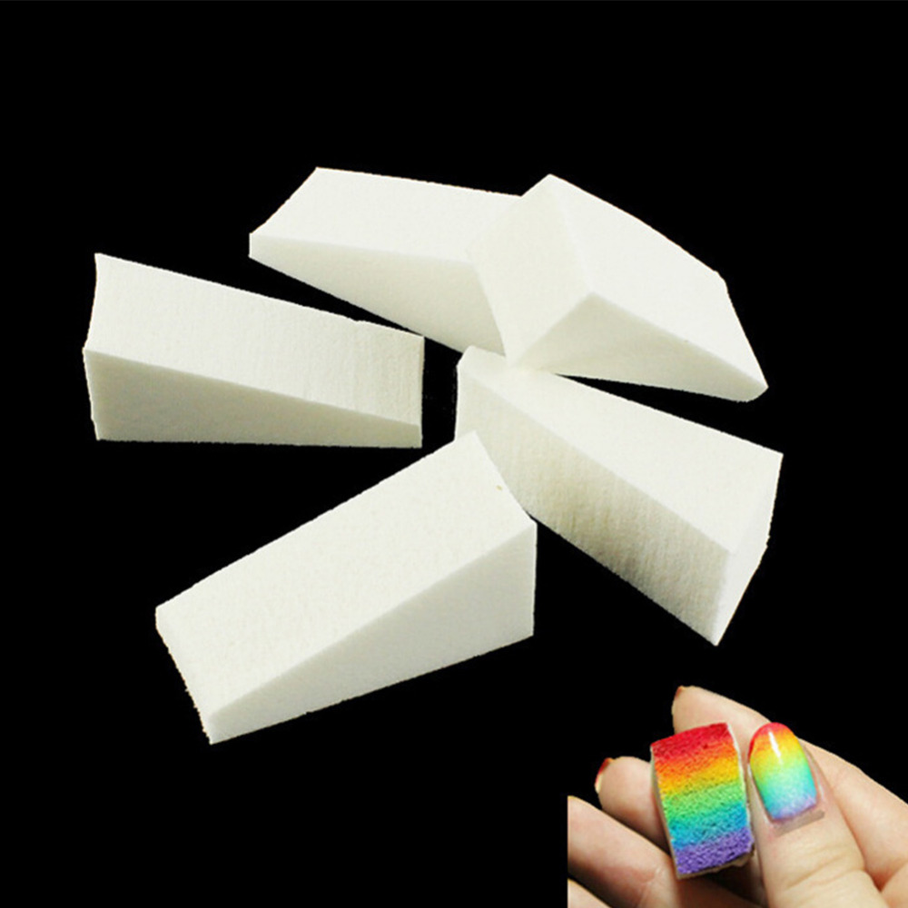 12pcs New Woman Salon Nail Sponges for Acrylic Makeup Manicure Nail Art Accessory(China (Mainland))