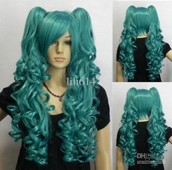 Wholesale - 2012 New Long curly hair cosplay wig prom wig party wig 5pcs/lot STOCK Mix order