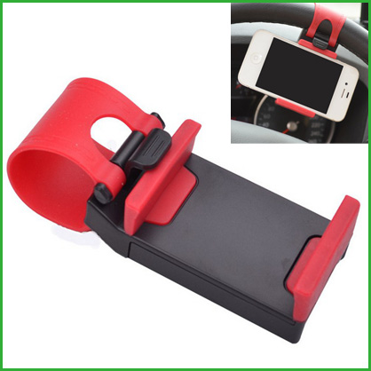 50pcs/l Universal car steering wheel phone holder Elastic bicycle Bike Clip Mount Holder stand For iphone Samsung GPS(China (Mainland))