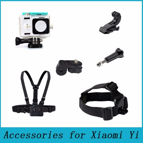 For Xiaomi Yi Camera Accessories Waterproof Case box Chest Belt Head Strap with Adapter For Xiaoyi Sport Action Camera