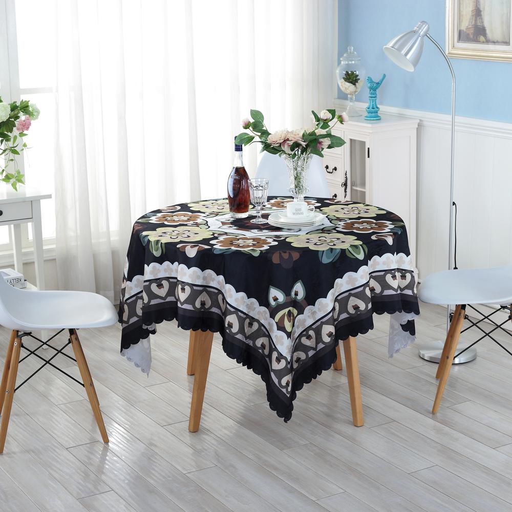 Eco-friendly Black Creative Table Cloth Home Wedding Table Tablecloth Creative Customized Acceptable Table Cloth ZH-7(China (Mainland))