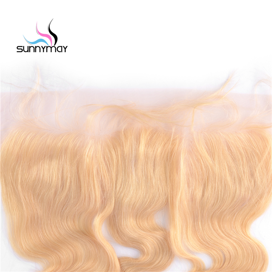 Sunnymay Body Wave Brazilian Remy Hair Closure 613 Blonde Color Human Hair Lace Frontal 13×4 Swiss Lace Free Shiping