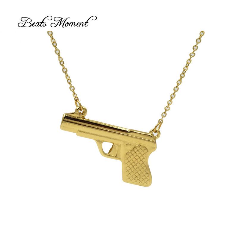 popular gold pistol pendant buy popular gold pistol