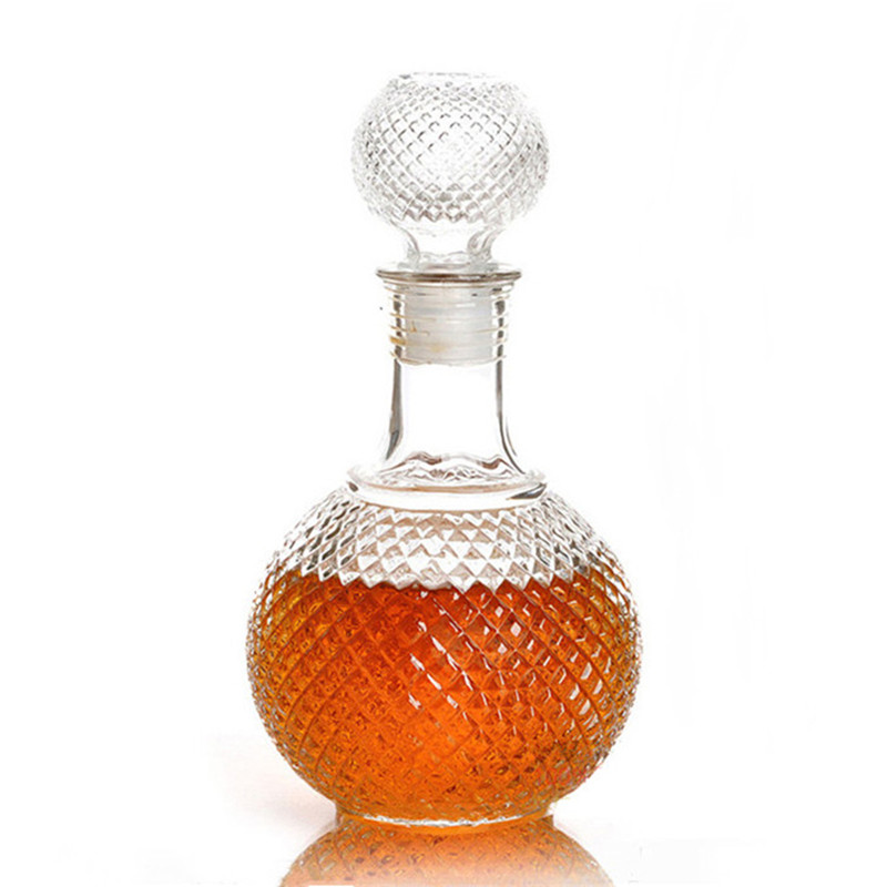 2015 Hot Sale New Arrival 250ml Crystal Whiskey Wine Shot Glass Bottle With Cap Stopper Drinking Bar Decanter(China (Mainland))