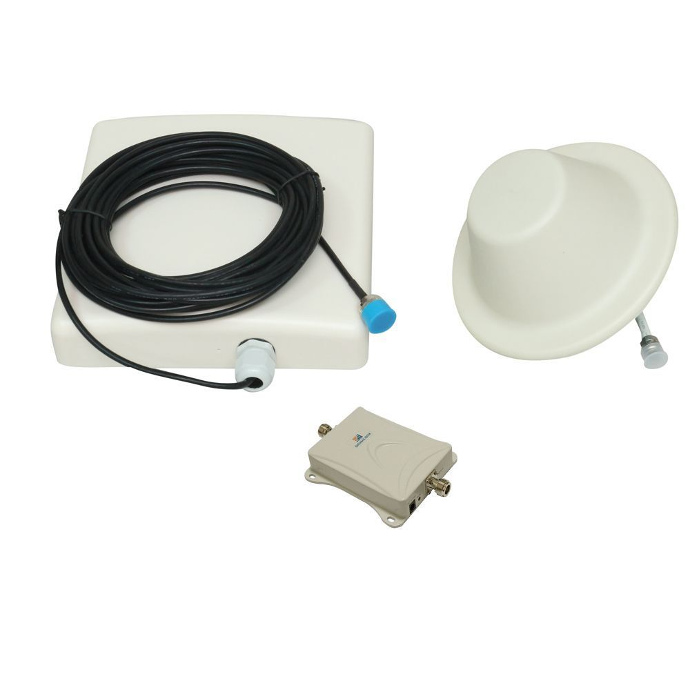 (1 pieces/lot) Motal Case AT&T 70db 700mhz Cell Phone Signal Booster Verizon 4g LTE Mobile Signal Repeater Amplifier 15m Cable(China (Mainland))