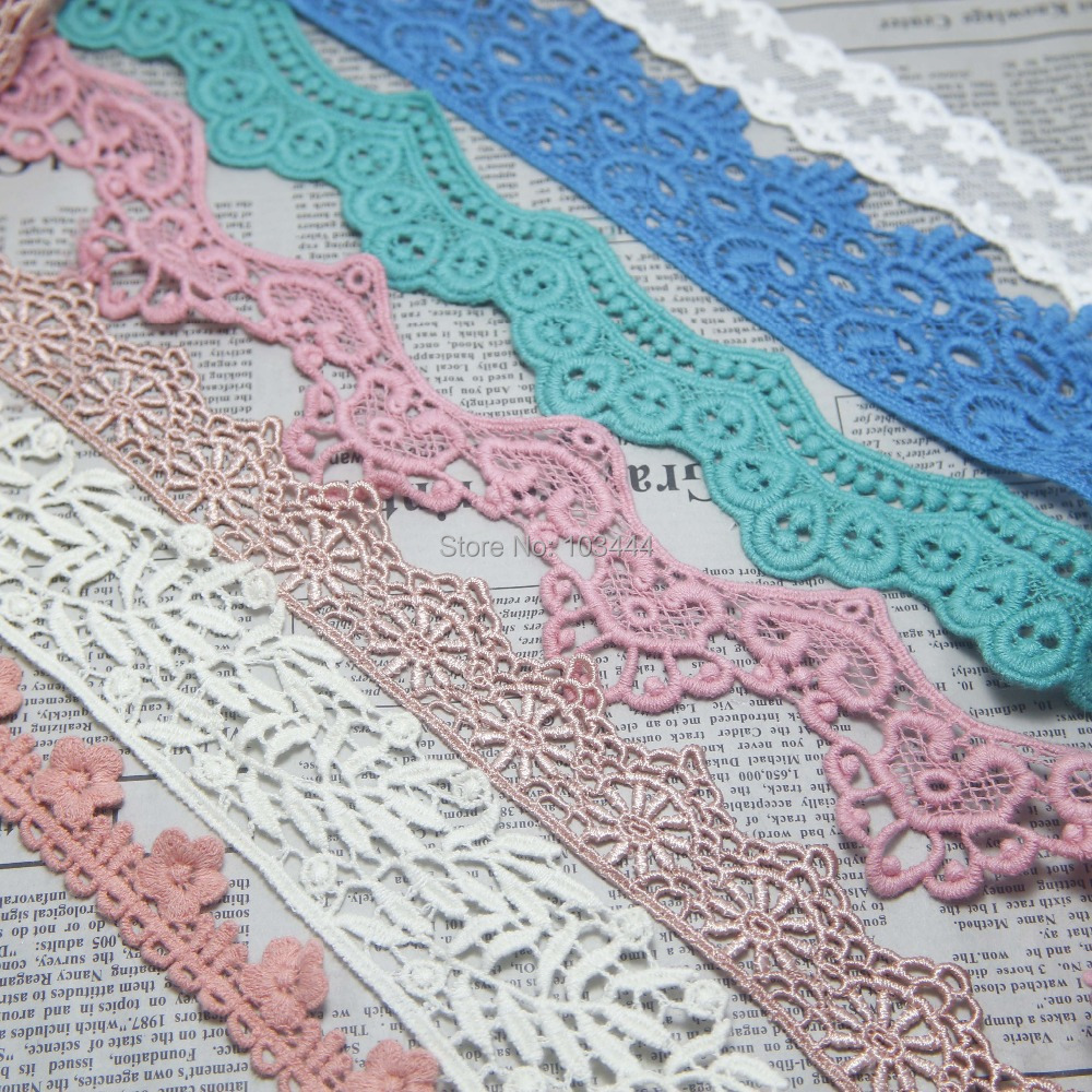 Lace trim fabric 0 99 1 2 yard pack diy sewing fabric for Sewing fabric