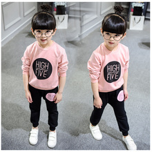 2016 New Arrival Kids Spring Autumn Fashion O neck Long Sleeve Cotton Fleece font b Girls