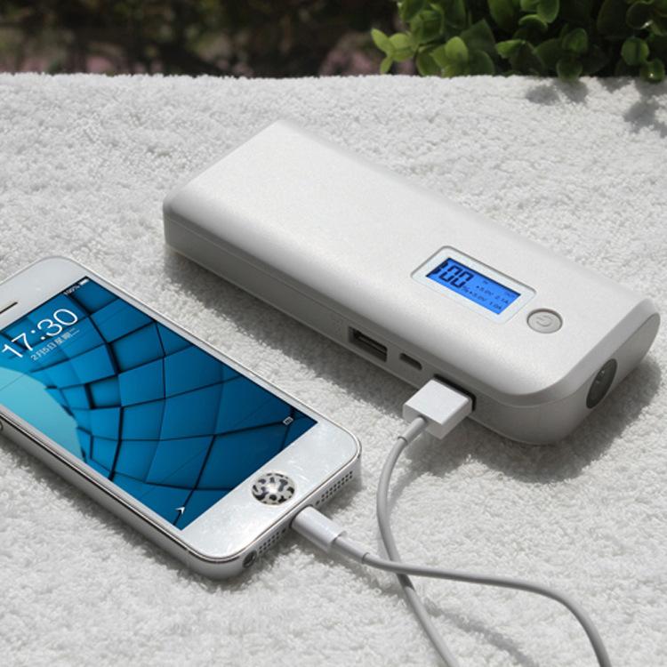 2016 New 8000mah power bank External Battery Backup Charger (Dual USB Outputs, High Capacity, LCD Screen and LED Lamp)(China (Mainland))